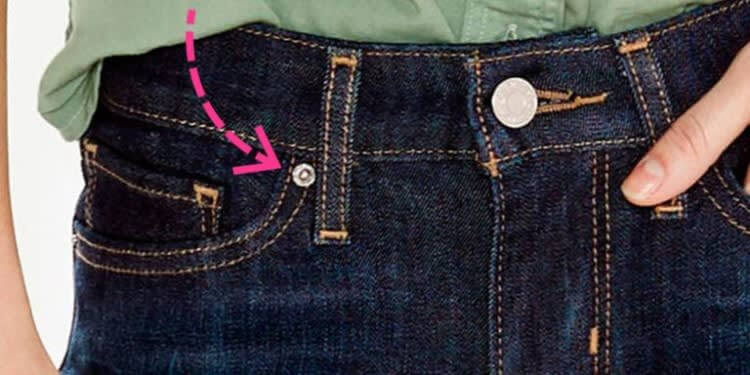 Small Buttons On Jeans