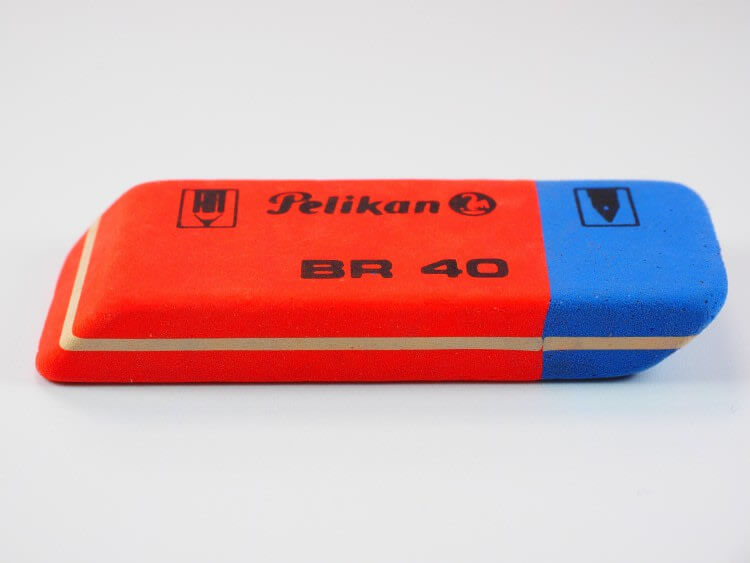 different colors of an eraser