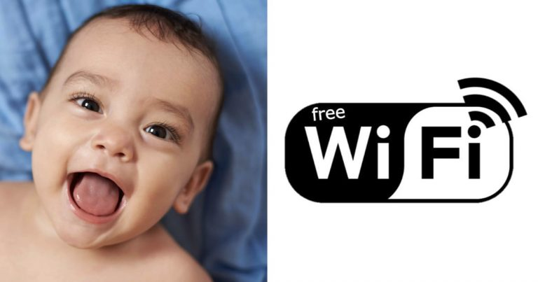 Parents Named Their Baby After A Internet Company for Free WiFi