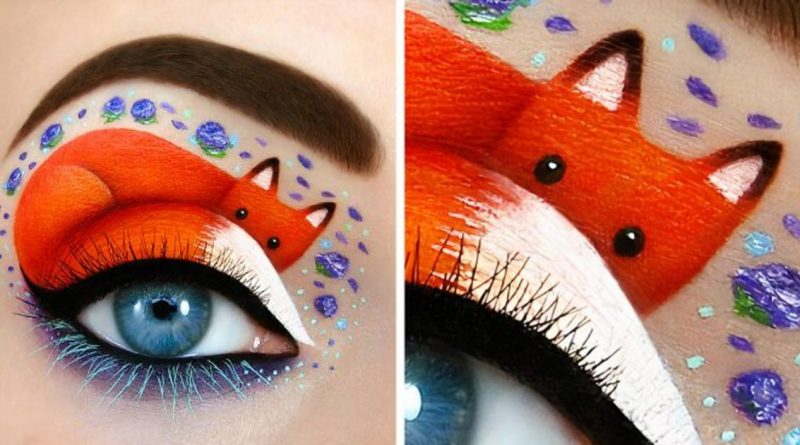 Artist Uses Her Eyelids As A Canvas To Create Magical Scenes