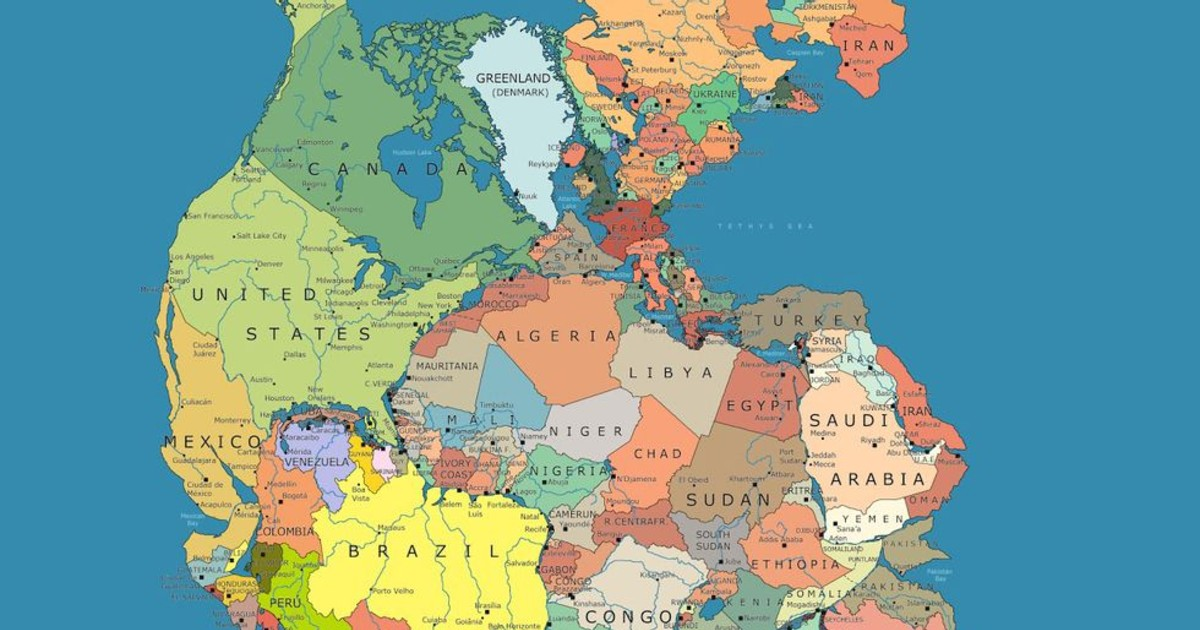 Map of Pangea Reveals Neighboring Countries 300 Million Years Ago