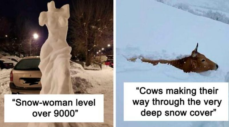 Spain Is Experiencing Their Biggest Snowfall In Decades And It Looks Like This