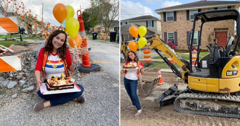 Woman Throws Party To Celebrate One Year Of Road Work Near Her Home