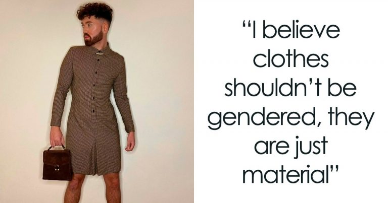 This Man Wears Skirts And Dresses To Prove That Clothes Have No Gender