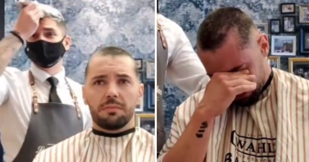 Barber Shows Solidarity With Friend With Cancer By Shaving Off Own Hair