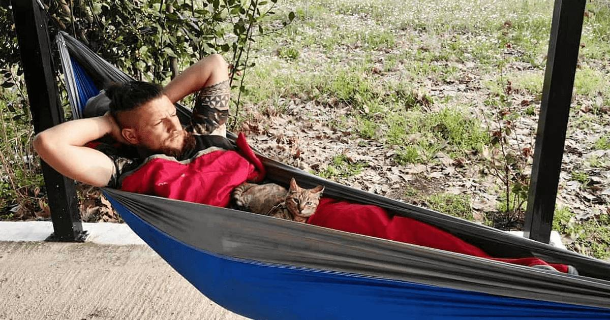 Cyclist Finds A Stray Kitten And Takes Her On His Journey
