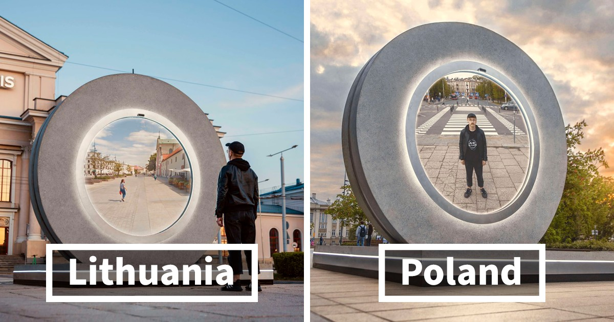 Poland And Lithuania Builds A 'Portal' Connecting Two Of Their Cities