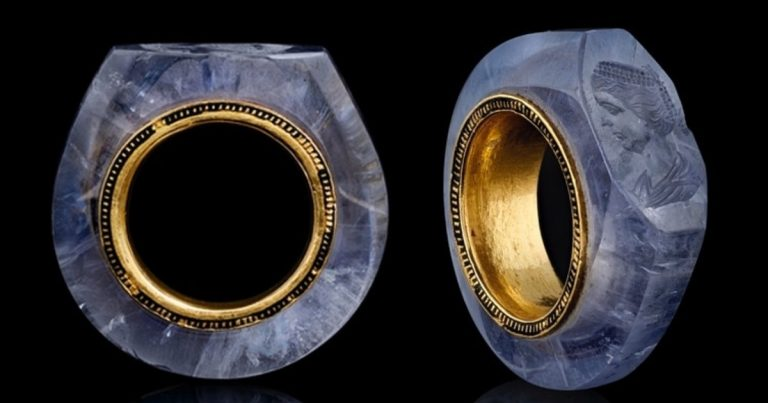 An Incredibly Detailed Portrait Is Carved Into This 2,000-Year-Old Sapphire Ring