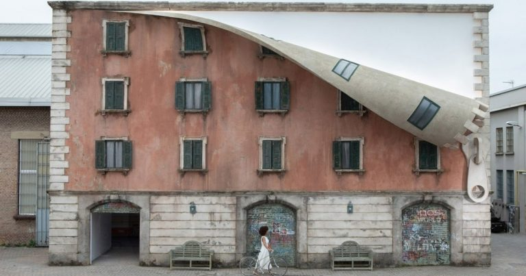 Building In Milan Gets 'Unzipped' By Sculptor For Incredible Art Installation