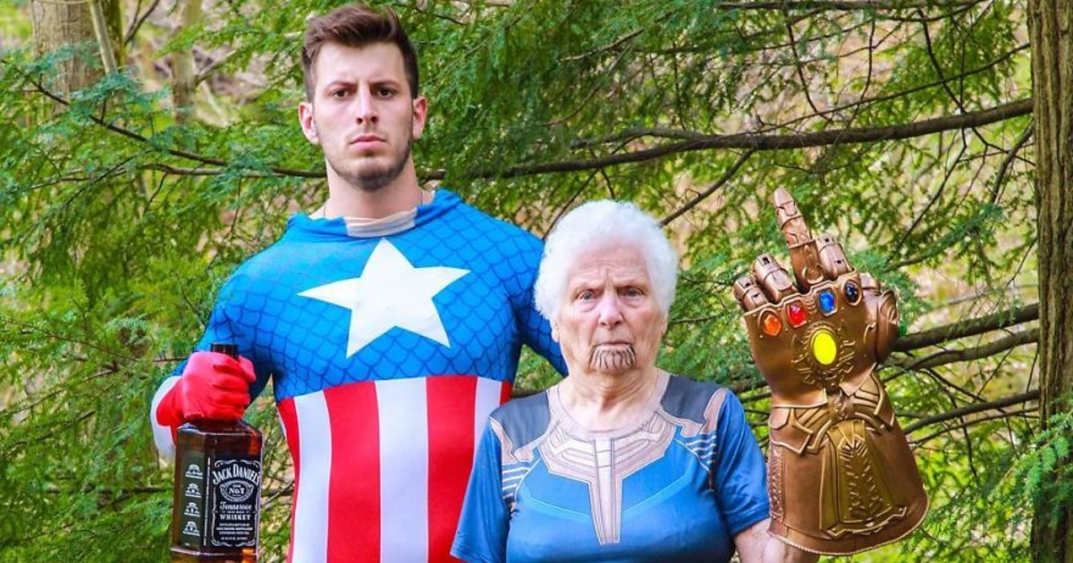 93-Year-Old Grandma And Grandson Dresses Up And Poses In Hilarious Costumes