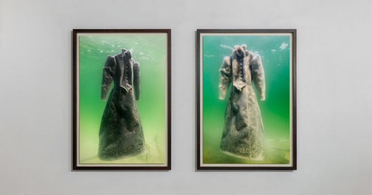 Dress Submerged in Dead Sea Converts Into Shining Masterpiece Covered In Salt